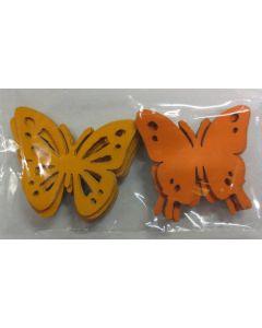 Sommerfugl i karton - 2 nuancer i orange - 20 stk
