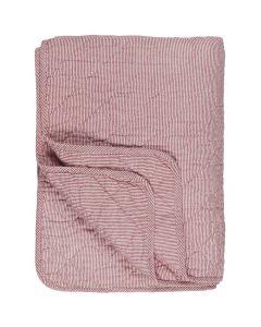 Quilt tæppe m/røde striber