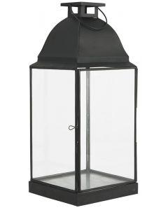 Lanterne m/afrundet tag - Sort