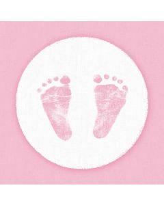 Ambiente 24x24 cm serviet - 20 stk Baby Steps Girl