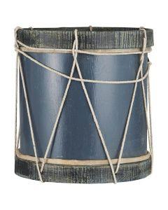 Tromme blå - 40x38cm