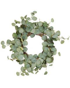 Krans m/eucalyptus - 55 cm
