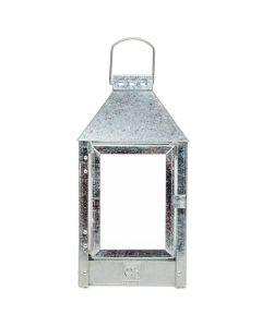 Lanterne galvaniseret zink - 17x33cm