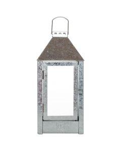 Lanterne galvaniseret zink - 19x42cm