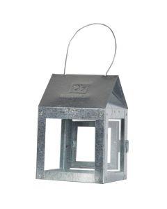 Lanterne galvaniseret zink - 8x12cm