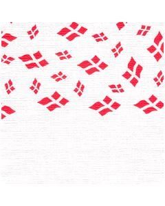 Papirdug 1,2x8 m - hvid med flag
