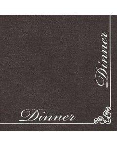 IHR Serviet 40x40 Dinner for Dinner Sort 12stk