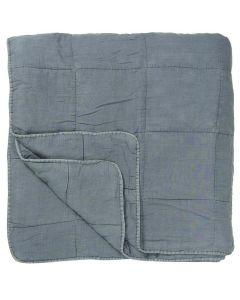 Quilt sengetæppe dobbelt - Støvblå