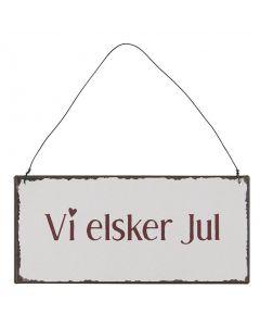 Metalskilt - Vi Elsker Jul