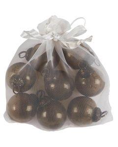 Pose m/ julekugler chocolate - 8stk