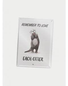 Citatplakat A7 - Love Each Otter