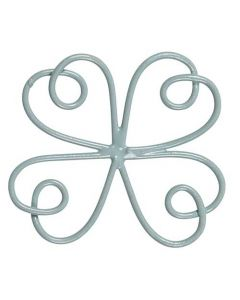 Vedhæng Blomst Wire Støvgrøn - 4,5cm