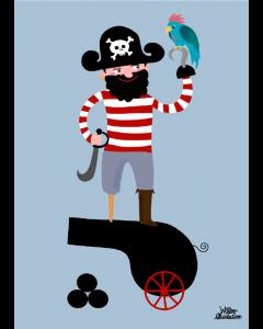 Plakat Pirat & Papegøje
