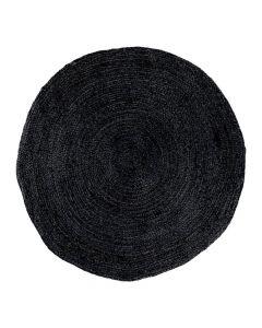 Bombay Gulvtæppe Jute Mørkegrå - Ø180cm