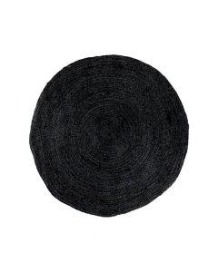 Bombay Gulvtæppe Jute Mørkegrå - Ø90cm