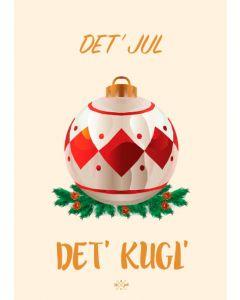 Hipd A5 Julekort - Det jul det kugl