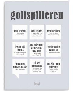 Dialægt Plakat - Golfspilleren