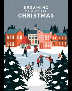 Citatplakat A5 Julekort - Dreaming Of A White Christmas