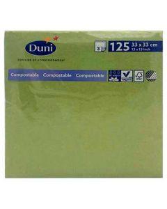 Duni servietter 33x33cm 3-lags 125stk Leaf Green