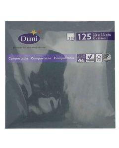 Duni serviet 33x33cm 3-lags 125stk - Ocean Teal