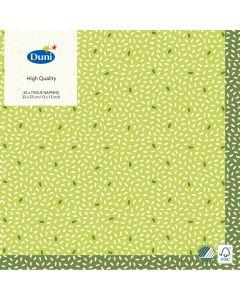 Duni servietter 33x33 3lags 20stk - Rice Green