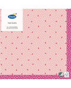 Duni servietter 33x33 3lags 20stk - Rice Pink