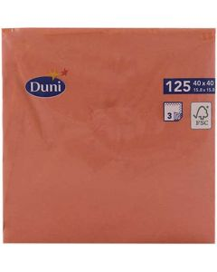 Duni serviet 40x40cm 3-lags 125stk - Mandarin