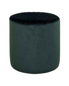Ejby Velour Puf - Mørkegrøn