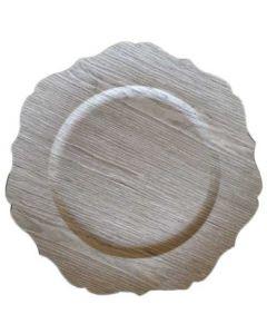 Fad med trælook - Ø33 cm