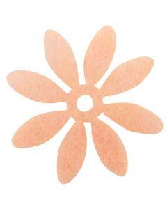 Blomst filt Ø3cm 18stk - Rosa
