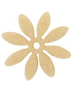 Blomst filt Ø3cm 18stk - Pudder