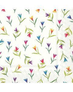 IHR Frokostserviet 33x33cm 3-lags 20stk - Colourful Flowers