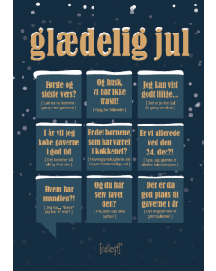 Dialægt A5 Julekort - Glædelig Jul