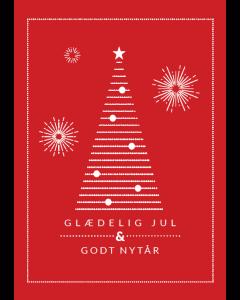 Citatplakat A5 Julekort Rød - Glædelig Jul Og Godt Nytår
