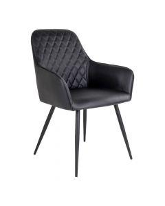 Harbo Spisebordsstol PU-læder - Sort