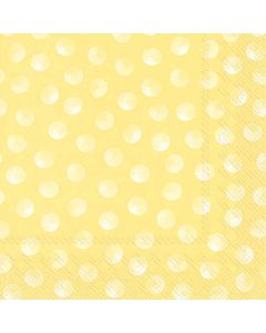 IHR Frokostserviet 33x33cm 20stk - Piggy Dots Gul