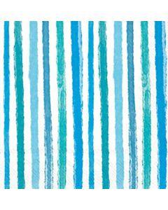 IHR Colourful Stripes Blue serviet 33x33cm 20stk