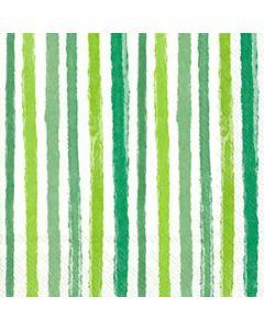 IHR Colourful Stripes Green serviet 33x33cm 20stk