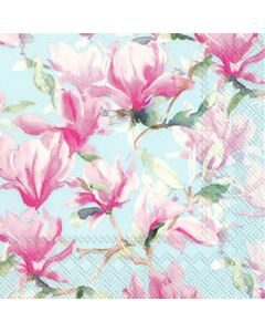 IHR Magnolia Poesie lyseblå serviet 33x33cm 20stk
