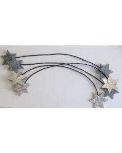 Filt wire sølv/sort 4 stk