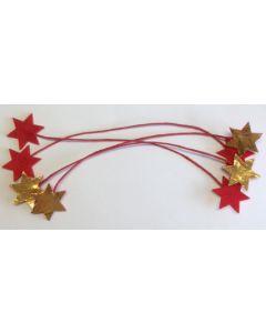 Filt wire rød/guld 4 stk