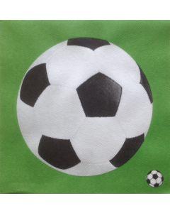 Sovie home tekstil serviet  - Fodbold 40x40cm 12 stk
