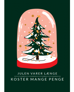 Citatplakat A5 Julekort - Julen Varer Længe