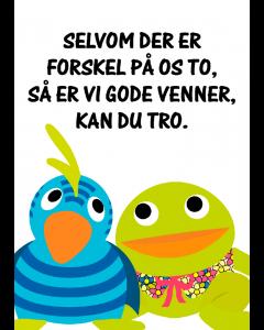 Plakat Kaj & Andrea Hvid – Gode Venner