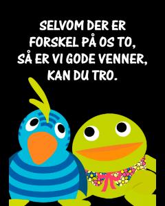 Plakat Kaj & Andrea Sort – Gode Venner
