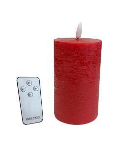 LED Bloklys 7,5x12cm - Rød