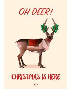 Hipd A5 Julekort - Oh Deer