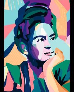 Plakat Thoughtful Frida Kahlo