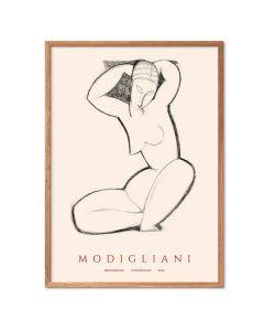 Amedo Modigliani - Charcoal Sketch