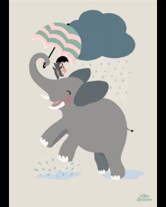 Plakat Elefant Regndans